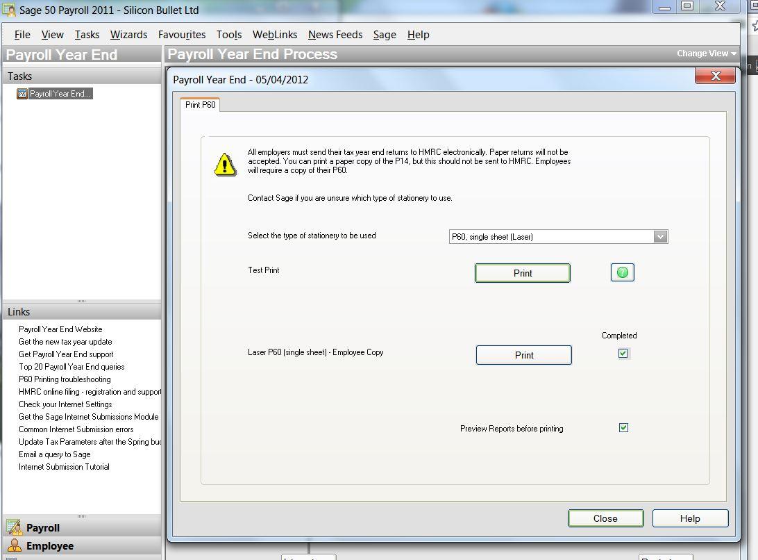 Copy Of P60 >> Payroll Accountings Sage Payroll P60