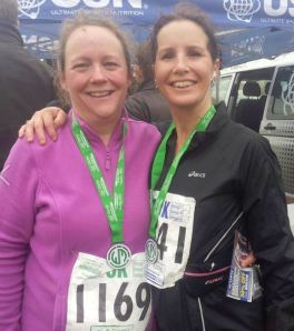 Myself and Jo with our medals.