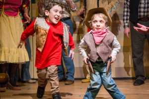Archie and Isaac in this year's Panto