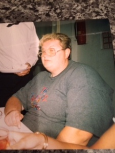 Tracy before her weight loss